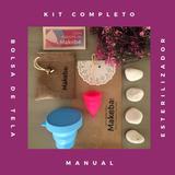 Copa Menstrual Makeba, Vaso Estetilizador, Bolsita Y Manual