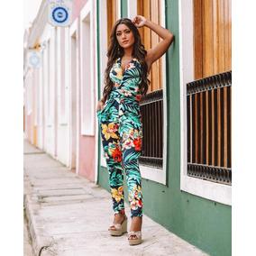 Macacão Feminino Confort Regata Coleção Primavera Verão 2019