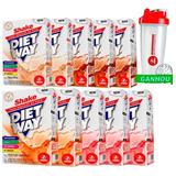 Kit 10 Diet Way Shake - 420 Gramas - Midway + Coqueteleira