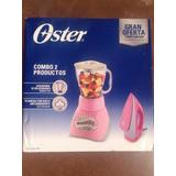 Paquete De Licuadora Oster + Plancha Rosa