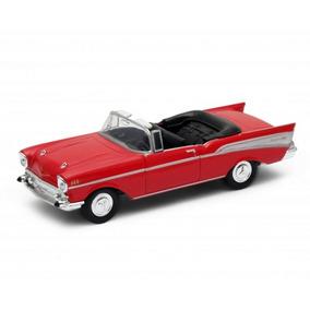 Carrinho Miniatura Chevrolet Bel Air 1957 1:34-1:39 Welly