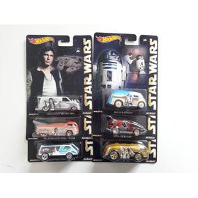 Coleção Star Wars ( 6 Hot Wheels ) Pneus De Borracha