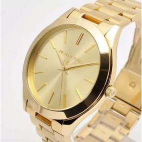 bc583aff633f5 Relogio Mk Slin Dourado - Relógios De Pulso no Mercado Livre Brasil