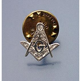 Pin Mason Logias Simbolicas Mini Discreto En Plata Ley.925