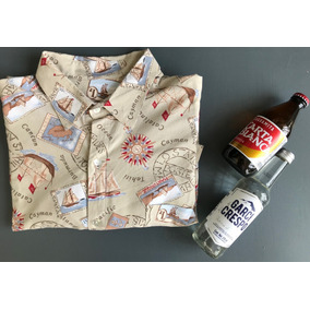 Camisa Hawaiana Vintage Hombre Talla Eg Mapas