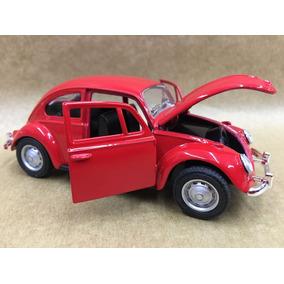 Miniatura Fusca Vermelho Roda Original 1967