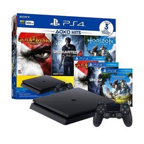 Playstation Ps4 Bundle 500gb 1 Controle Dualshock4 3 Jogos
