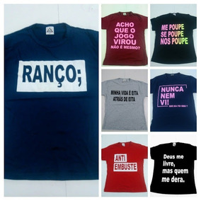 T Shirts Frases Lançamento - 30 Peças Revenda   Atacado 17dab643b8f