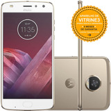 Moto Z2 Play Xt1710 64gb Dual Chip 4g 12mp Dourado Vitrine 3