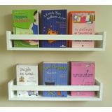 Prateleira Decorativa Livros Infantil U 60 Cm Revisteiro