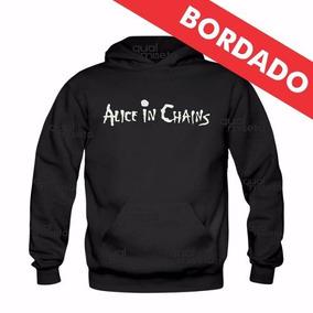 Canguru Bordado Alice In Chains Moletom Moleton Blusa Casaco da6972f5100
