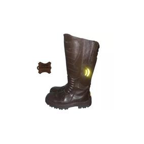 Bota Motoqueiro Cano Alto Boots Resgate - Couro Legitimo de68824f677