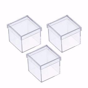 Caixinha Em Acrílico 4x4(50 Unid) Lembrancinha Frete Grátis