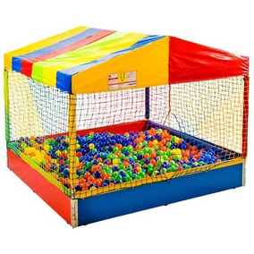 Piscina De Bolinhas 1,5x1,5 Playground Infantil Leva E Trá