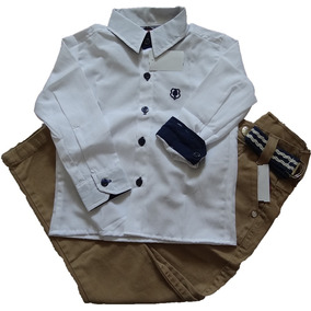 Kit Calça Jeans Infantil Masculina Menino + Camisa Social