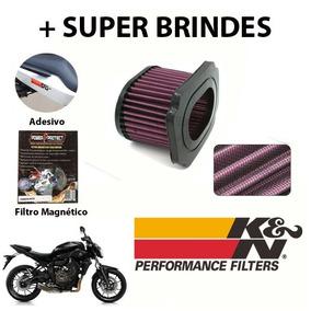 Filtro De Ar Esportivo = K&n - Yamaha Mt07 Mt-07
