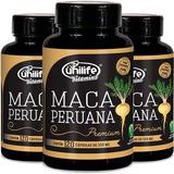 Kit Com 3 Maca Peruana Premium 120 Caps - Unilife Vitamins