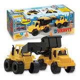 Set Constructor X2 Camion Volcador Excavadora Duravit Manias