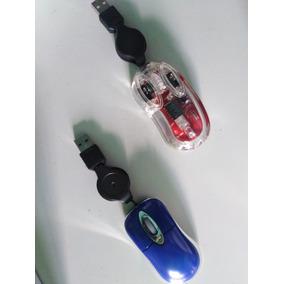 Mouse Ratón Mini Cable Retráctil Nuevos Oferta