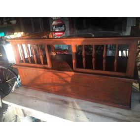 Antigua Caja De Banco Mueble Adorno Barbacoa Bar 140x80x60