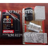 Kit Filtros Aceite Aire Nafta Motul 8100 Bora Golf 1.8 T 2.0