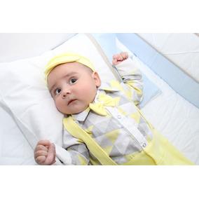 Saída De Maternidade Menino Amarelo Miguel 5 Peças