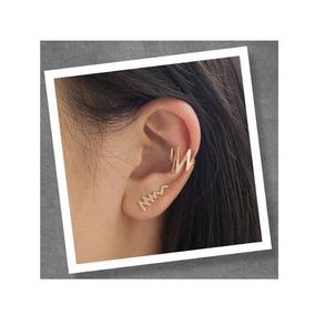 Brinco Ear Cuff No Formato De Raio You Rock Rommanel 526099