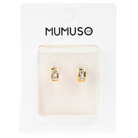Arete Mumuso Diamante Rectangular Dorado