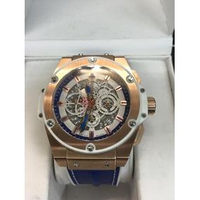 6cce1a3af97 Pulseira Relogio Azul Marinho Masculino Hublot - Relógios De Pulso ...
