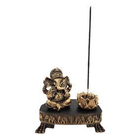 Ganesha Deus No Aparador Esotérico Com Incensário Decorativo