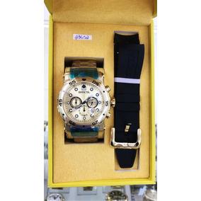 Relógio Invicta Pro Driver Banhado A Ouro 18k Original