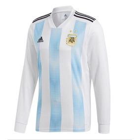 Camiseta De La Seleccion Argentina Mangas Largas - Camiseta de ... 19f2d35af9b21