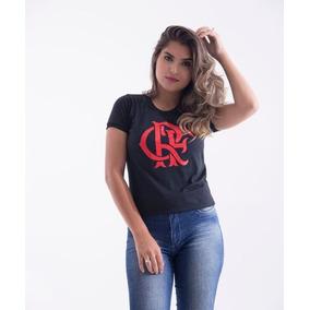 Camiseta Flamengo Branca Feminina Baby Look - Camisetas no Mercado ... 55a4f460f1490