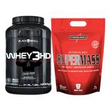 Whey 3hd Pote 900g Black Skull + Super Mass 3kg Integral