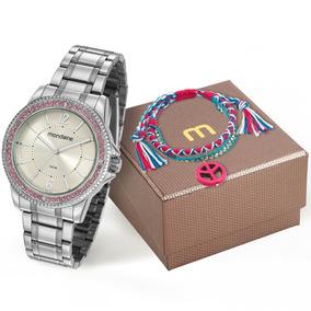 61fcfb36f51 Relogio Feminino Mondaine Com Pedras - Relógios De Pulso no Mercado ...
