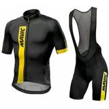 Kit Conjunto Ciclista Masculino Bretelle +camisa Mtb Speed