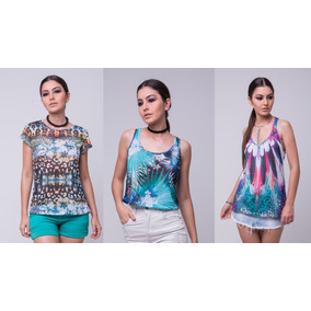 Kit 3 T-shirts Blusas Feminina Roupas