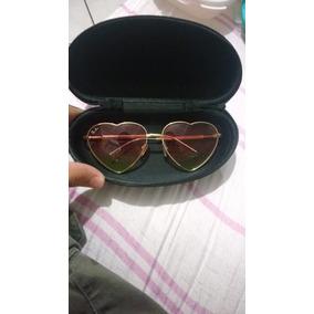 a7b6acbf85253 Oculos De Sol De Coracao Dourado Com Protecao Ray Ban - Óculos no ...