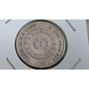 Moeda Brasil Prata 1857 ...807br