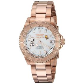 Bello Reloj Invicta Snoopy Ed. 24796 Automático Mujer Nuevo!