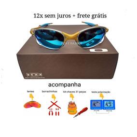 Oculos Double 24k Azul Bebe +lentes+borrachas+chaves+teste 29411e2092f
