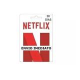 Cartão Pré-pago Conta Netfix Envio Imediato 1 Mês