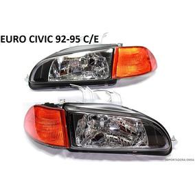 Focos Euros Civic 92 - 95 C/d, Jdm En Vidrio Oferta