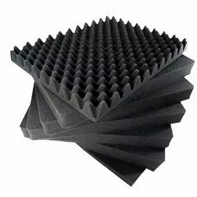 Espuma Acústica Para Estúdio Gravação 8 Placas 50x50 Com 3cm
