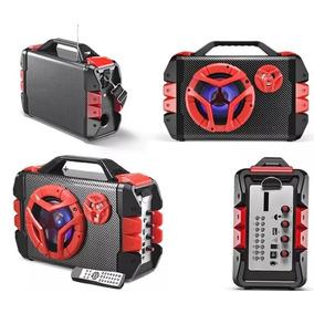 Caixa De Som 100w Rms Multilaser Led Bluetooth Usb Sp250