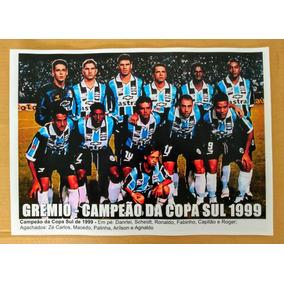 Poster Do Grêmio - Campeão Da Copa Sul De 1999