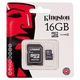 Cartão De Memória Micro Sd 16gb Kingston + Adaptador/sd