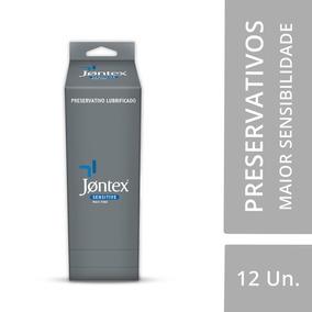Preservativo Jontex Lubrificado Sensitive - Display C/ 12 Un
