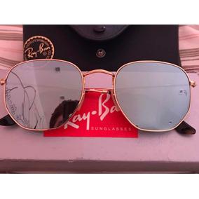 ff5ea82853048 Óculos Ray Ban Hexagonal Dourado Lente Espelhada Rb3548n