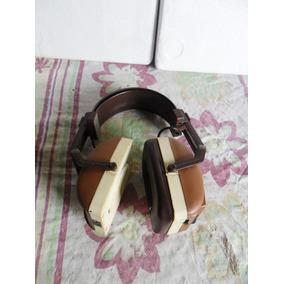 Fone De Ouvido Antigo Com Radio Am\fm\ Sucata\